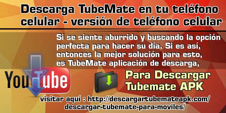 TubeMate downloader app es una aplicación para descargar videos específicamente de YouTube. Además, puedes descargar videos de muchos otros sitios web populares como Vuclip, Dailymotion, Metacafe, etc.