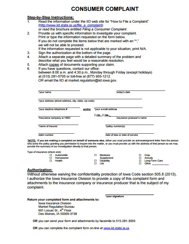 112 best Commissioners Complaint Form By State images on Pinterest - medicare auditor sample resume