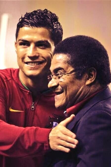 """RIP Eusebio, wonderful footballer and genuinely modest ambassador for both Portuguese football and Benfica Tributes immediately began to flow on Twitter and videos of his most famous goals were posted online. Ronaldo posted a photo of the pair together, calling him """"always eternal""""."""