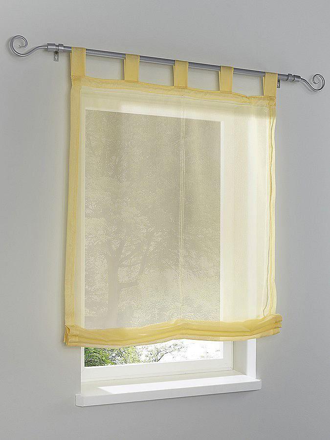 Geschmackvoller Sichtschutz, fein strukturiert und dezent transparent, aus 100% Polyester. Mit Schlaufen für die Gardinenstange. Höhe ca. 140 cm....