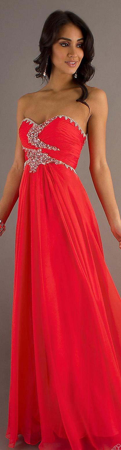 Formal long dress #strapless #sexy #watermelon http://desiactressespics.blogspot.com/?view=mosaic