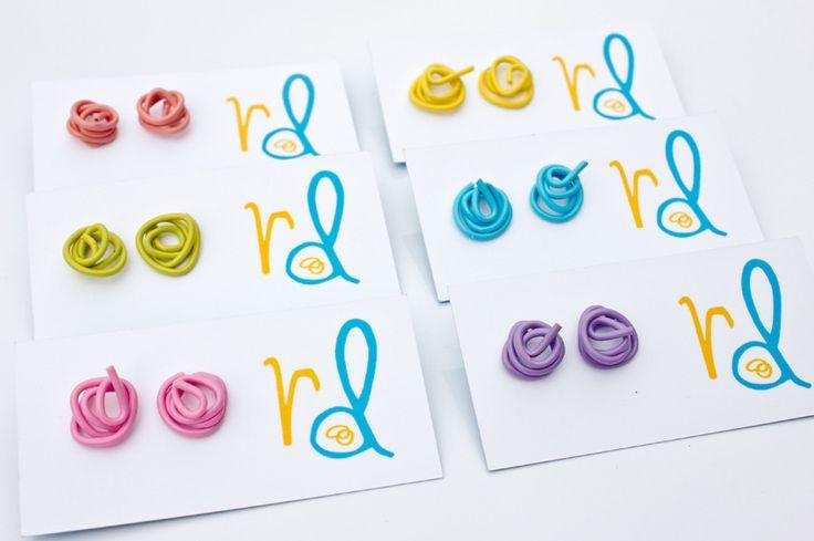 Renee Damiani.  Squiggle earrings handmadei n Australia.