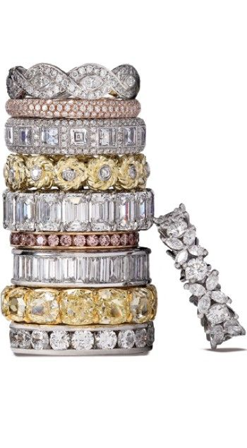 The pink diamonds ones and the princess ones....anniversary bands? Some one tell Jordan!!!