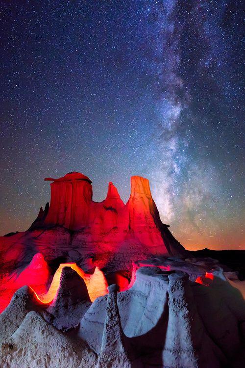 Milky Way, Bisti Badlands \\ Knate Myers