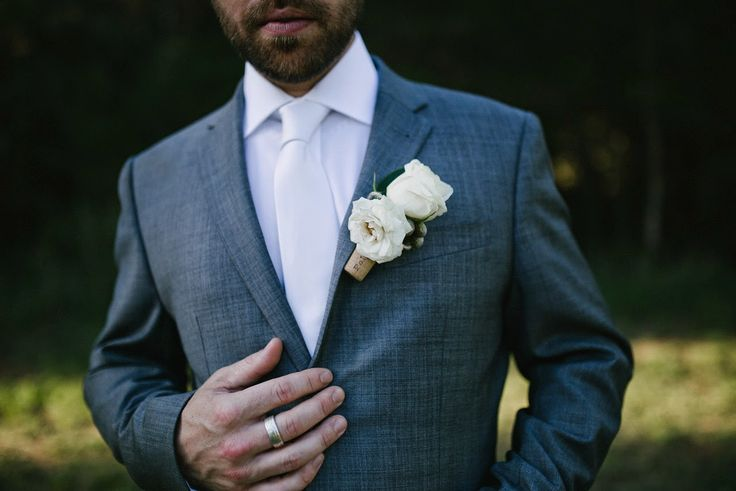 Naomi Rose Floral Design. Cork buttonhole, perfect for a winery reception. Photography by  www.freethebird.com.au
