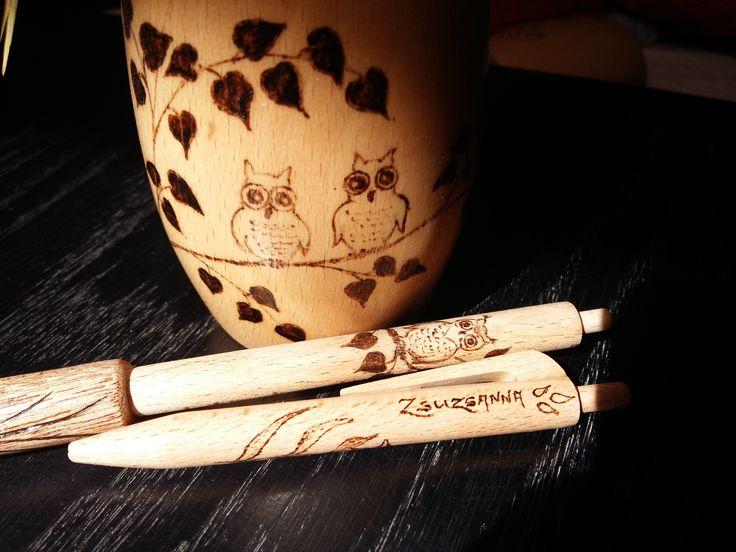 owl drawing pen - baglyos toll