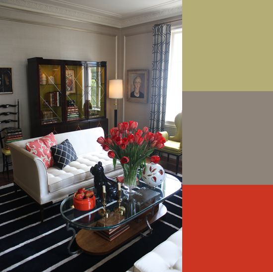 chic color palettes to steal from the san fran decorator showcase - Home Decor Color Palettes