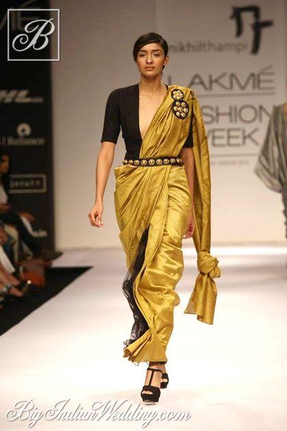 Nikhil Thampi designer saree