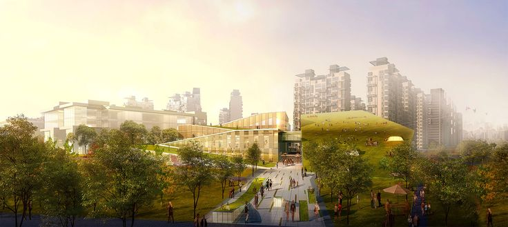 Wrapping around the Yitong River, the master plan for the Changchun Economic Development Zone offers sustainable, transit-oriented…