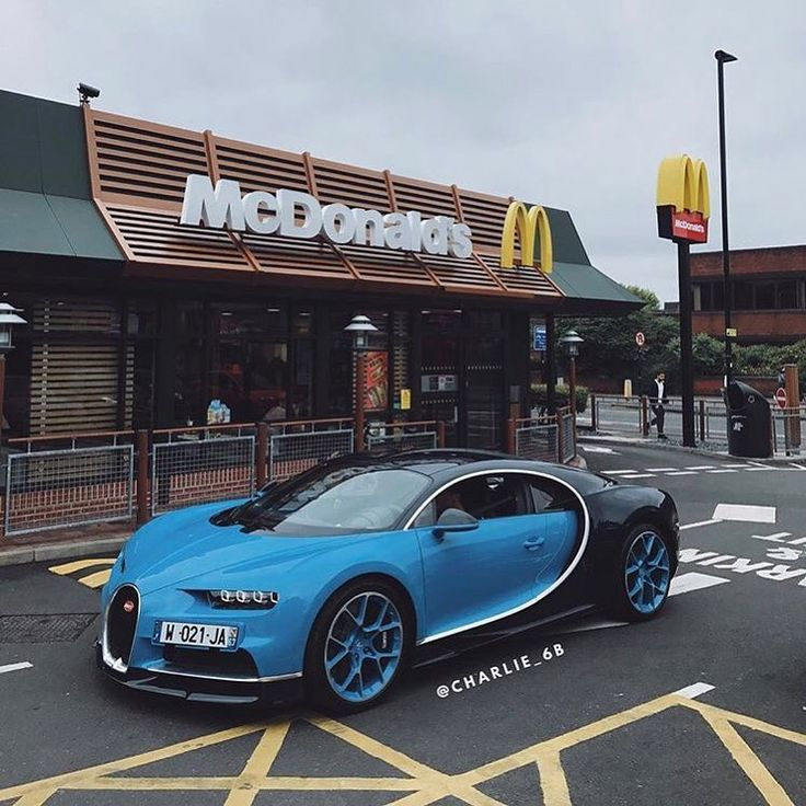 "1,140 Likes, 77 Comments - Exotics | Specs | Concepts (@millionairemotors) on Instagram: "" McDonald's Bugatti Chiron ➖➖➖➖➖➖➖➖➖➖➖➖➖➖➖➖➖ Top Speed: +261mph (420km/h) Price: £2.14million…"""