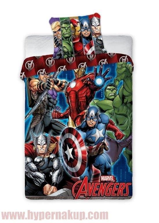 Detské posteľné obliečky Avengers 140 x 200 cm
