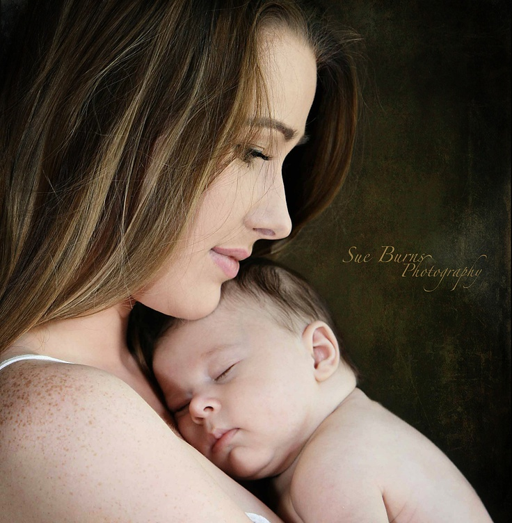 Newborn mom photography