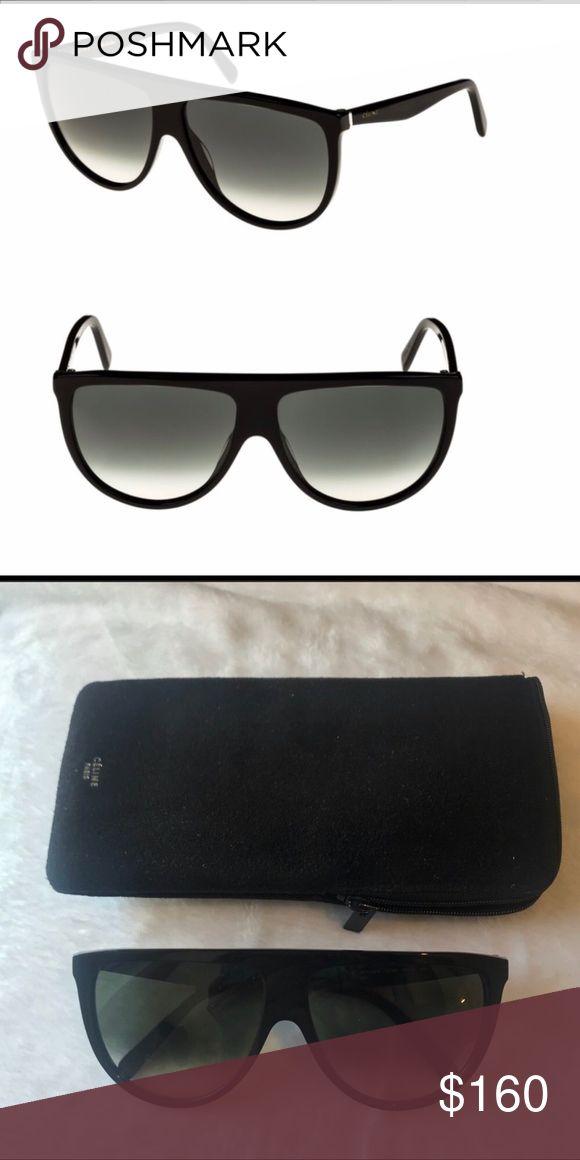 615e9edede0 Celine Pilot Sunglasses Black Celine sunglasses with gradient lens oversized  frame. 62mm width lens. Bought about 6 months ago and wo…