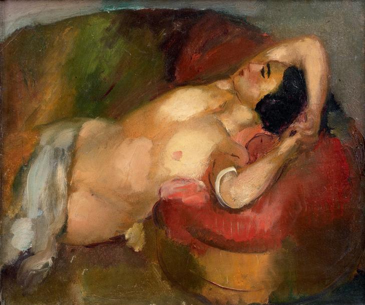 Nu allongé (Huile sur toile) - Henry Ottmann ______________________________ ♥♥♥ deniseweb.free.fr ♥♥♥