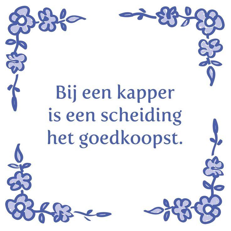 Tegeltjeswijsheid.nl - een uniek presentje - Bij een kapper