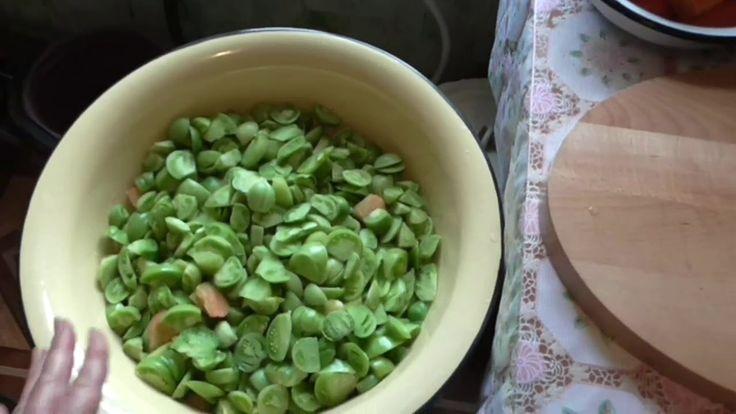 Заготовки на зиму. Салат из зелёных помидор. Как приготовить вкусную зак...