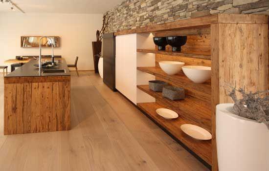 massivholzk che k che altholz pinterest k che. Black Bedroom Furniture Sets. Home Design Ideas