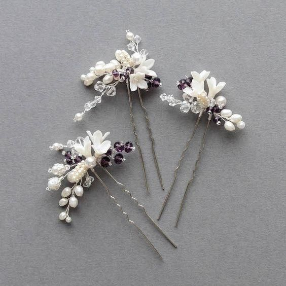 Flower hair pin. Craft ideas from LC.Pandahall.com