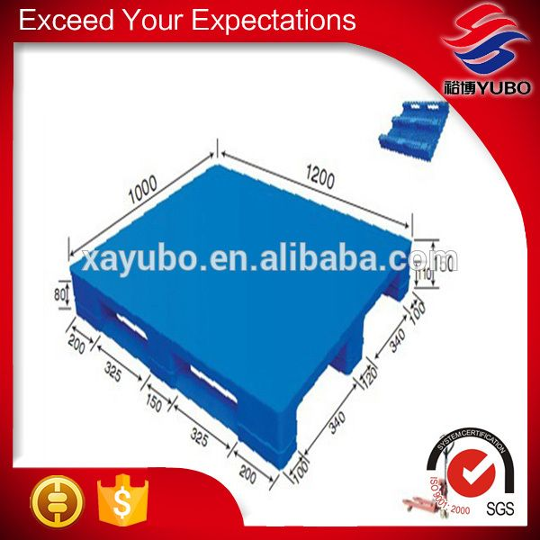 wholesale heavy duty single faced style plastic pallets 1200 x 1000mm for industrial