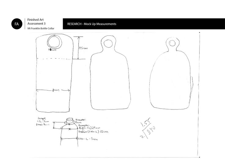Outcome - Mock up measurements