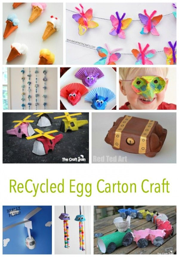 30 recycled egg carton crafts for kids to enjoy such for Creative recycling ideas for kids