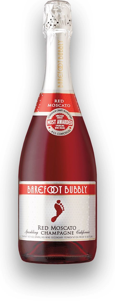 Barefoot Bubbly Red Moscato.