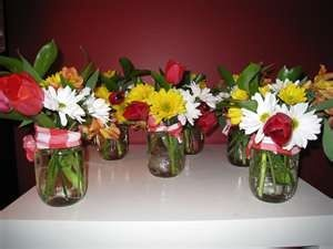 DIY Rehearsal Dinner Centerpieces | country western centerpieces