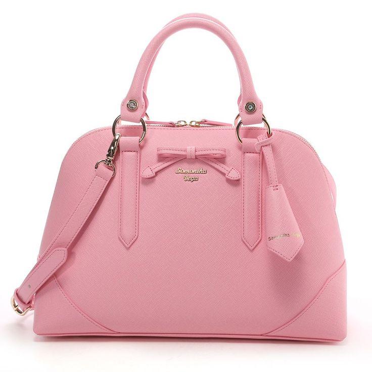 Samantha Thavasa Samansabega Rachelle Boston pastel color Large (Coral Pink)