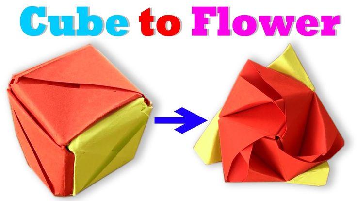 How To Make a Paper Magic Cube Rose (Valerie Vann) - Origami Cube Rose