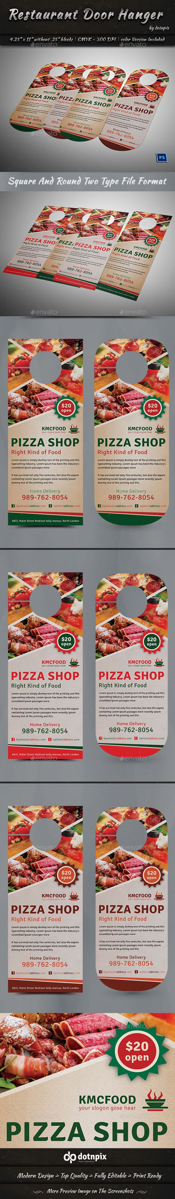Restaurant Door Hanger Template PSD Restaurant Door