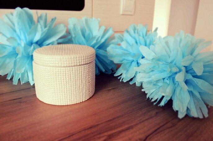 Blue Paper Flowers