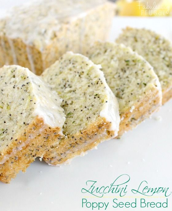 This zucchini lemon poppy seed bread is super moist and delicious!