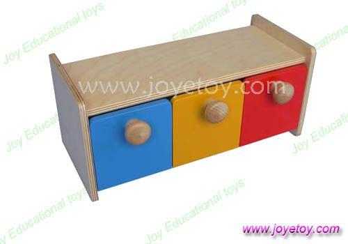doos met bakken 1001 vroege ontwikkeling colore training baby peuter kinderen baby houten zintuiglijke speelgoed montessori materialen(China (Mainland))