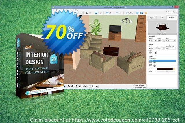 Interior Design 3D   Deluxe Version Coupon Code (70% Discount)   Oct 2018