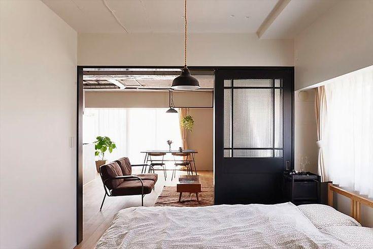 リフォーム リノベーションの事例 寝室 事例no 647好きなインテリアに囲まれて開放的に スタイル工房 インテリア リノベーション 床 マンション リノベーション