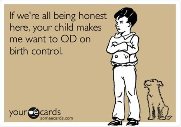 How I feel 90% of the time around children whose parents don't believe in spanking.