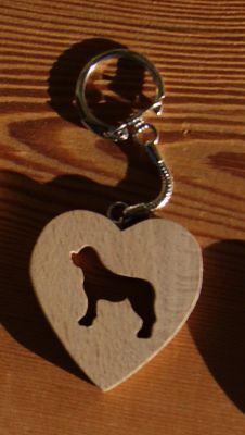 porte clef coeur et chien