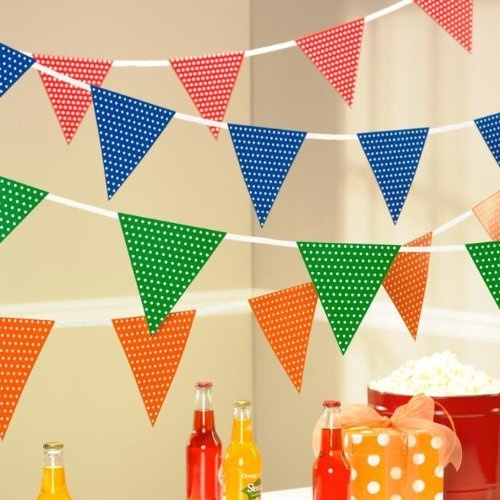 polka dot party flags - photo #24