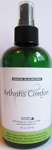 Arthritis can be debilitating, painful, and frustrating. Get some relief with our Arthritis Comfort Essential Oil Spray, which contains essential oils for arthritis and inflammation.   The essential oils of bay lead, tea tree, cedarwood, lemon, frankincense, and myrrh are natural known painkillers, help to increase circulation, and will relieve joint pain and stiffness.