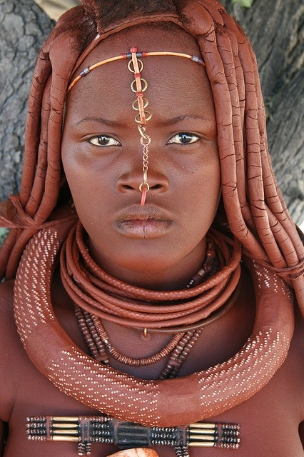 Himba tribe Namibia Himba tribe color experiment - YouTube