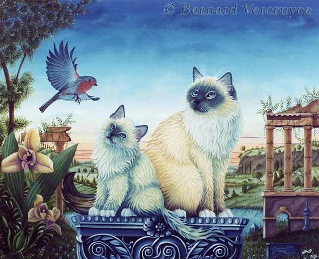 Sotis et Satis (Painting), par Bernard Vercruyce Huile sur toile
