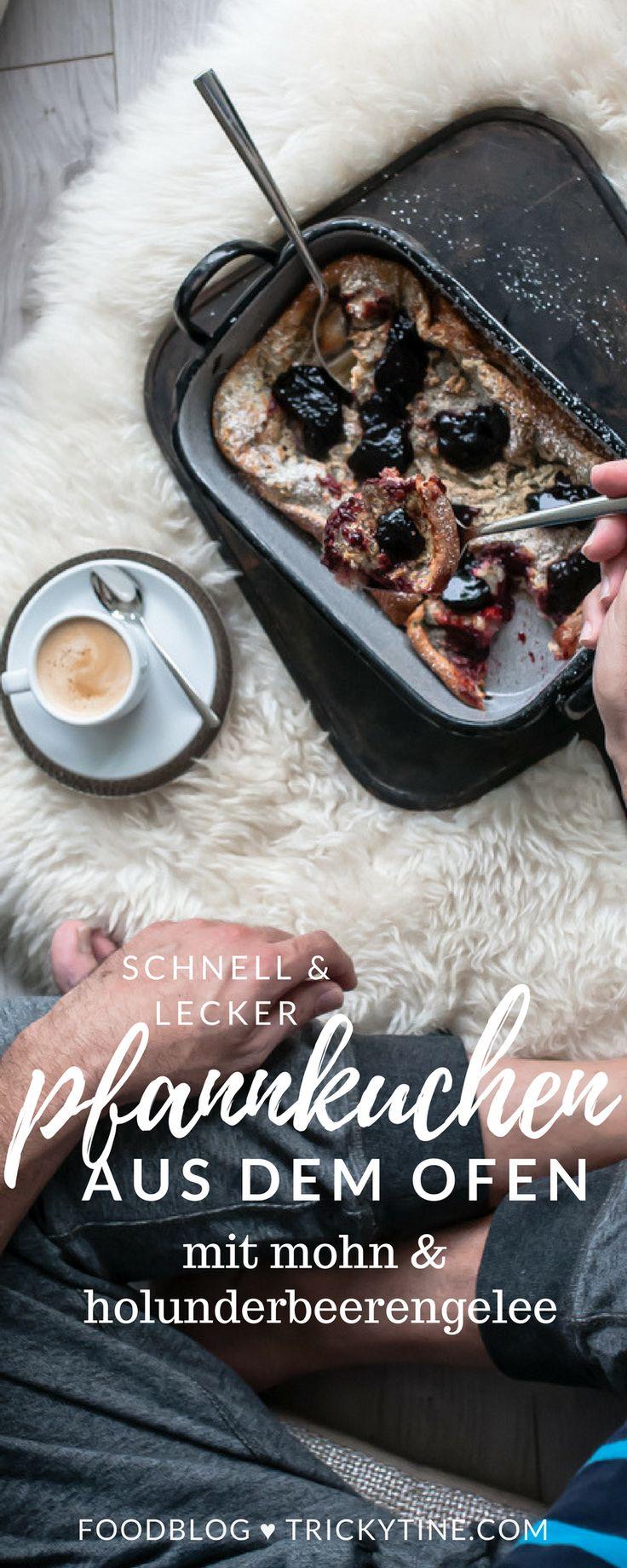 leckerer ofenpfannkuchen mit mohn & holunderbeerengelee ♥ trickytine.com