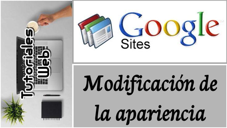 Google Sites Clásico 2017 - Modificación de la apariencia (español)