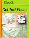 Convert an image and process to a text file of the original image. Convert picture to text. Ascii Art.