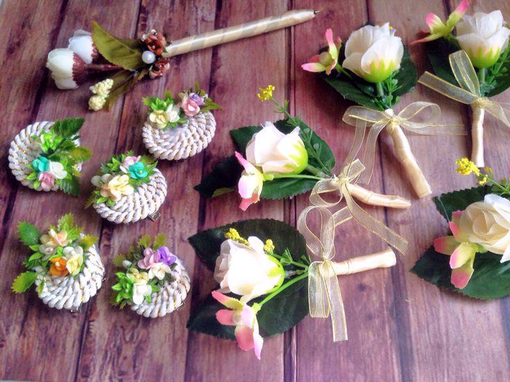 DIY hiasan pulpen, corsase panitia, hair clip buat krucil2 #diy #corsage #pinpanitia