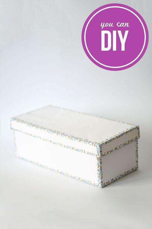 Dekortapasz szélű doboz  Dekorella Shop  http://dekorellashop.hu/  DIY > WASHI TAPE DECORATED BOX