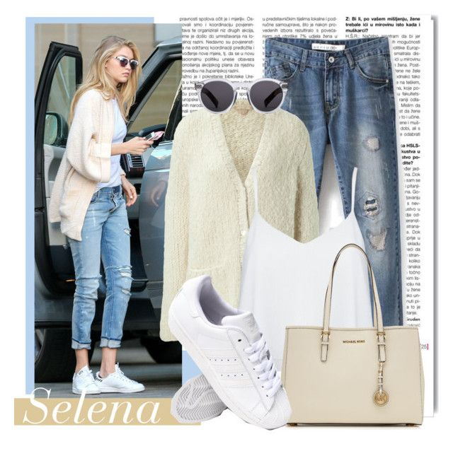 """Selena - Go to the Mansion"" by sweettbb on Polyvore featuring White Label, Michael Kors, Alice + Olivia, MICHAEL Michael Kors, adidas and Illesteva"