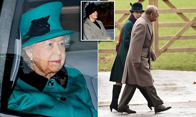 Her Majesty, 91, and the Duke of Edinburgh, 96, were joined at church in Sandringham this morning by family members including Sophie and her husband Edward and Princess Anne.