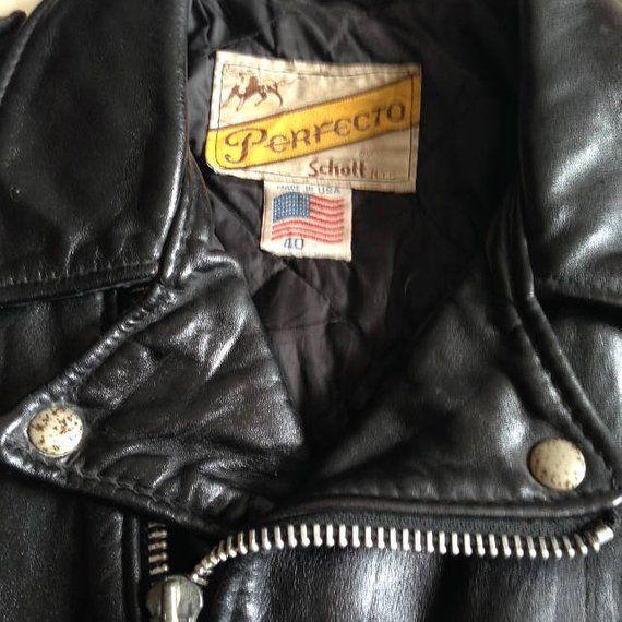 Vintage Schott Perfecto 613 Una Estrella Cry Baby In 2020 Leather Jacket Jackets Fashion