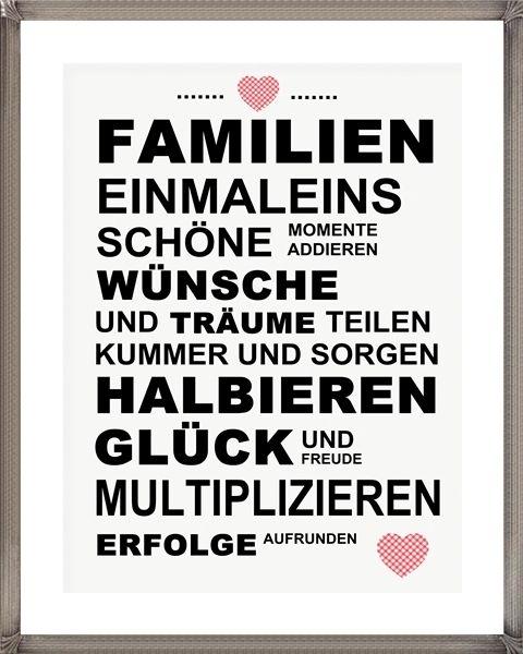 """Kunstdruck Bild Spruch """"Familie"""" von MilaLu auf DaWanda.com"""